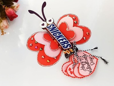 DIY Chocolate Gift Idea.Valentine Day Chocolate Card.How to make gift idea for Chocolate Day