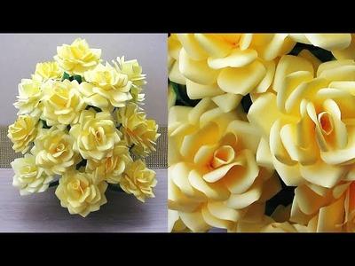 .DIY.NEW DESIGN PAPER FLOWER GULDASTA. WASTE PLASTIC BOTTLE FLOWER POT. FLOWER VASE. 20l9 8