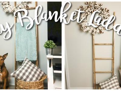 DIY Pottery Barn Inspired Blanket Ladder