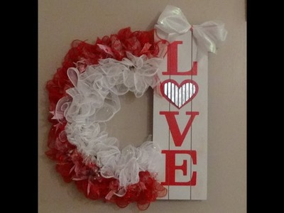 Dollar Tree DIY Love Wreath for Valentine's Day