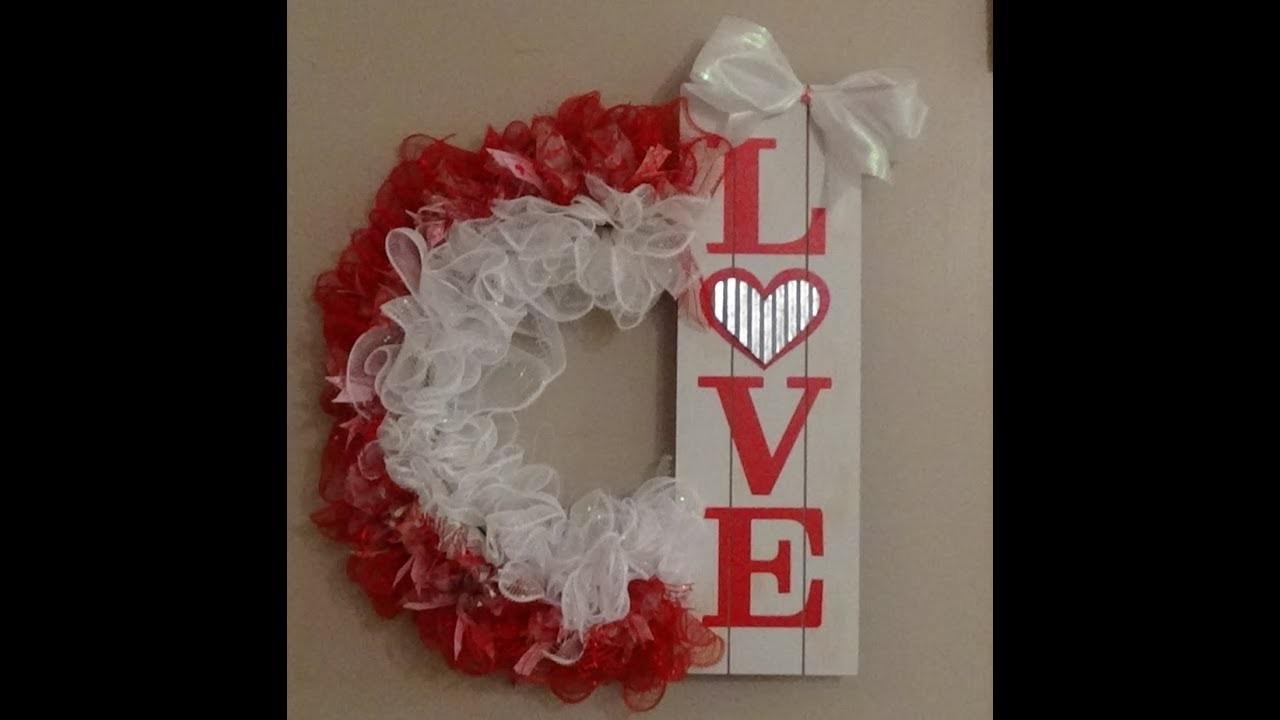 Dollar Tree DIY Love Wreath for Valentine's Day