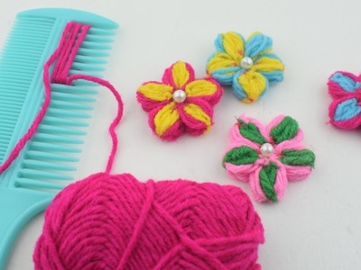 Easy Flower Embroidery Trick with Comb - Hand Embroidery Amazing Trick - Sewing Hack