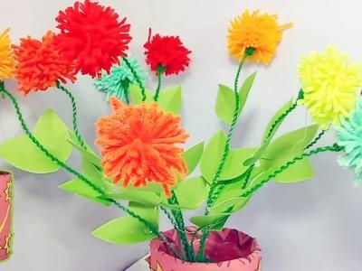 Flower Vase |  Best Out of Waste | DIY Flower Vase | Flowers and Vase Making Ideas