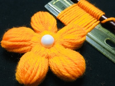 Hand Embroidery Amazing Trick#Easy Flower Embroidery Trick#Sewign Hack#Woolen Trick.