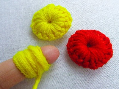 Hand Embroidery Amazing Trick, Easy Flower Embroidery Trick, Sewing Hack