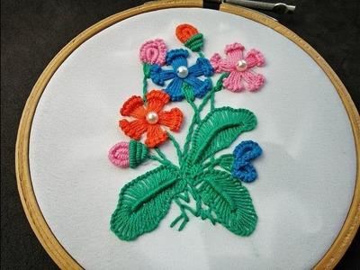 Hand Embroidery   Brazilian Embroidery   Brazilian Flower Embroidery   Fantasy Flower Stitch