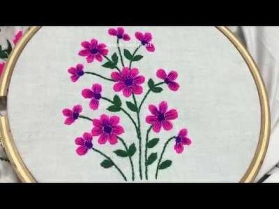 Hand embroidery: Flower design by nakshi design art
