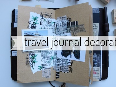 Holiday Travel journal Inserts _ polaroid and stamping _ plan with me