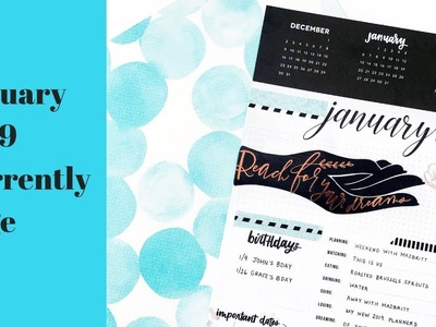 How to Decorate your Happy Planner Currently Page. Monthly Plan with Me. January 2019