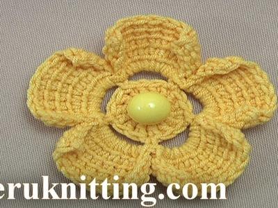 How to Do Crochet Flower  Tutorial 200 Tunisian Crochet