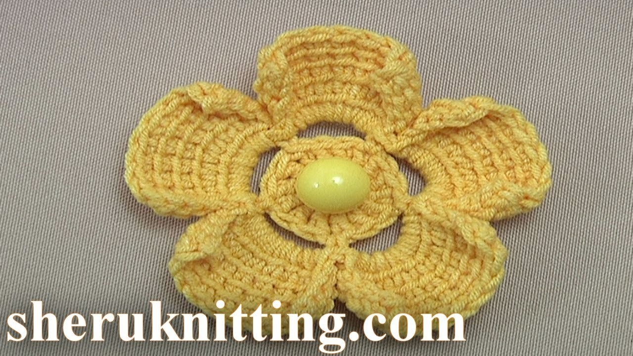 How to Do Crochet Flower  Tutorial 200 Tunisian Crochet