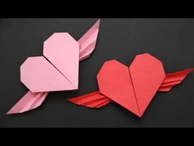 How to make an Origami Winged Heart | DIY paper crafts | Easy Origami step by step Tutorial