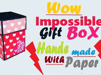 Impossible Gift Box with Two Lids - DIY tutorial