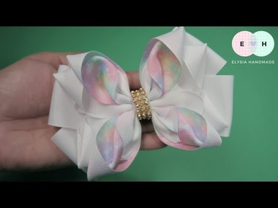 Laço de Fita ???? Flower Ribbon Bow Tutorial ???? DIY by Elysia Handmade