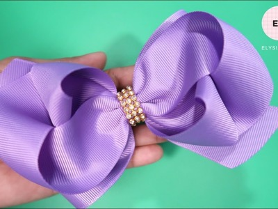 Laço de Fita ???? Ribbon Bow Tutorial 6 ???? DIY by Elysia Handmade