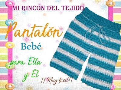 Pantalón bebe a crochet (ganchillo) paso a paso tutorial - Crochet baby pants step by step tutorial