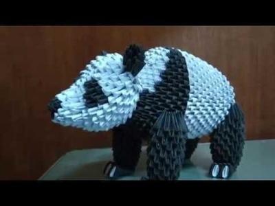Papercraft 3d origami panda bear tutorial part 1