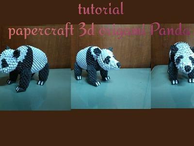 Papercraft 3d origami panda bear tutorial part 2