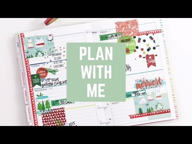 Plan With Me: Nov 27-Dec 2, 2017 [Create 365 mini Happy Planner® Stickers + Washi tape How To]