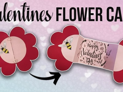Pop Up Flower Card - EASY Valentines Card DIY