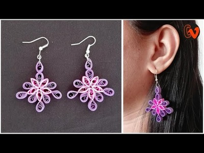 Quilling Earrings. Quilling Paper Art. Design 108