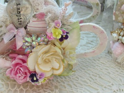 Tales of You & Me Shabby Chic Card, Tilda Teapot & Tag