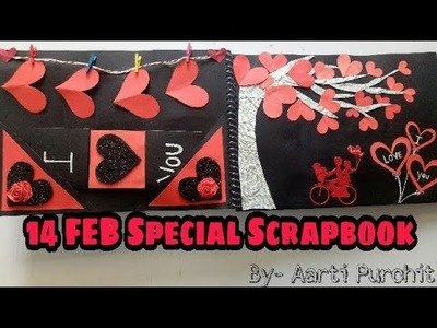 14 FEB special scrapbook || Valentine's Day Scrapbook || Scrapbook for Boyfriend || Valentine's idea