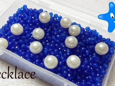 #342 How to make Pearl Beaded Necklace || Diy || jewellery making at home || Diyartiepie