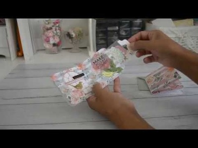6x6 Paper | Simple Mini 3x3 Flipbook with Insert | TUTORIAL