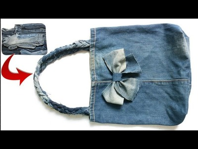 A bag of old jeans with your own hands: How to sew a bag |Best out of waste old jeans| Reuse jeans