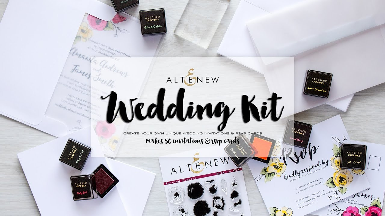 Altenew Wedding Stamping Kit - How To Use