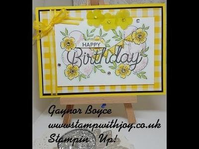 Birthday Statements Card Stampin' Up!