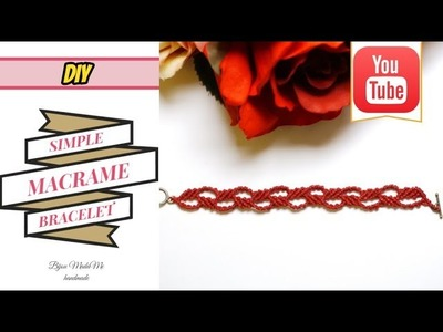 DIY simple macrame bracelet for beginners | Easy bracelet ideas | Macrame tutorial | Macrame jewelry