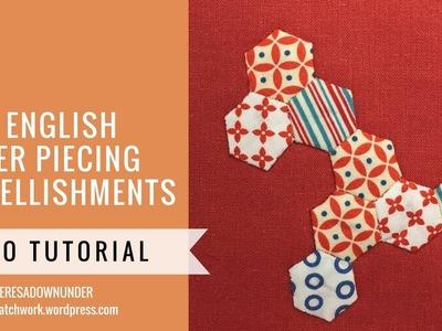 Embellishing with English Paper Piecing (EPP) video tutorial