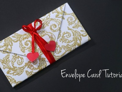 Envelope Card Tutorial | Heart Envelope | Valentines Card Handmade EASY