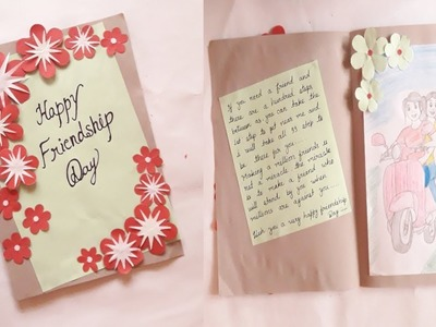 Greeting Card idea for friendship day || easy to make flower card