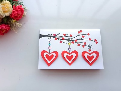 Handmade card for Valentines day.pop pu card. tutorial