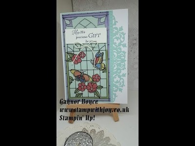 His Grace, Painted Glass card Stampin' Up!
