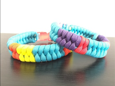 """How to """"Add colors to Fishtail"""" Paracord Bracelet"""