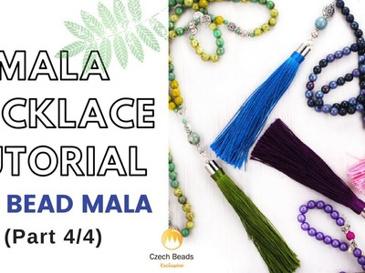How to make 108 Bead Mala Beaded Necklace Tutorial