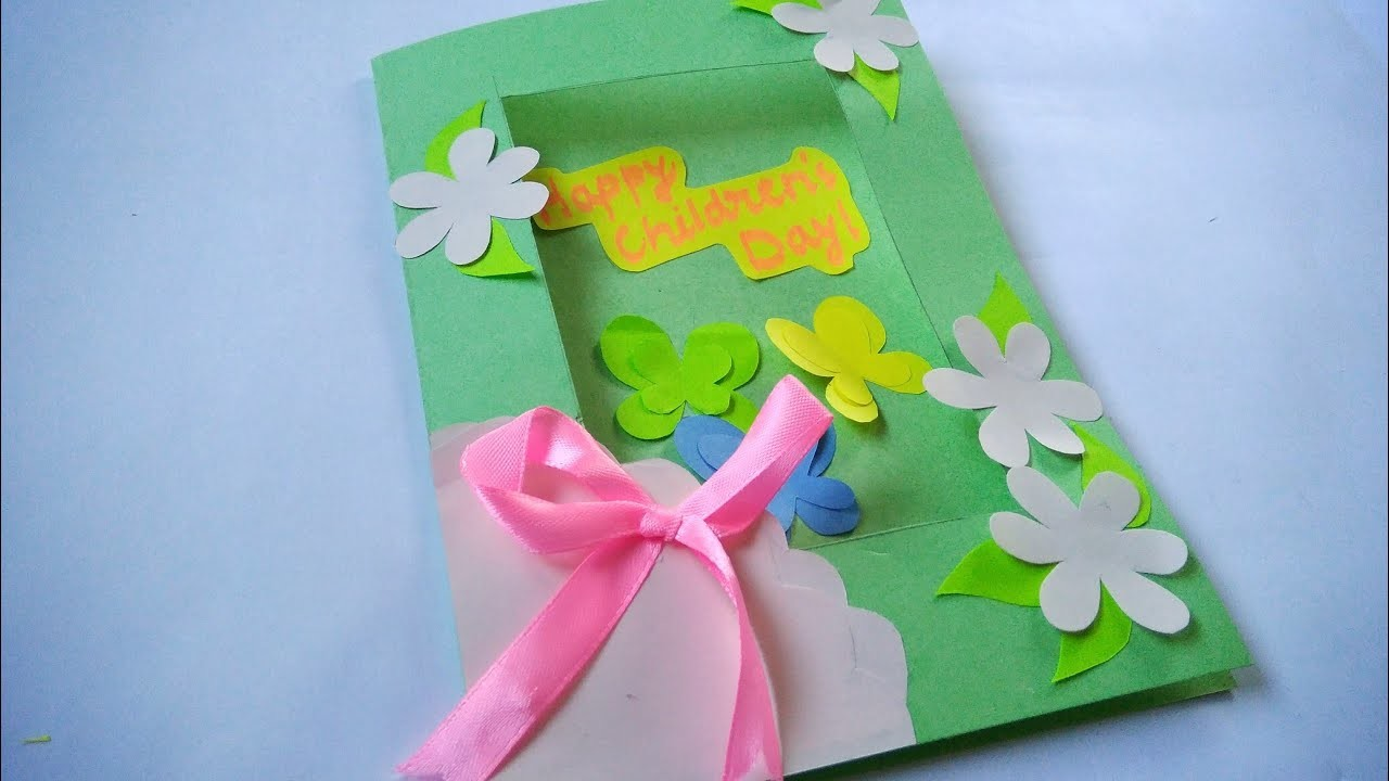 How to make : Children's Day Special Greeting Card | Dinesh Arts