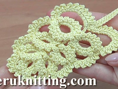 How to Make Crochet Leaf Tutorial 50