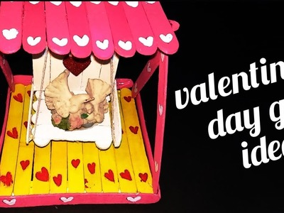 How To Make Popsicle Stick Swing | DIY Miniature Jhula | Valentines Day Gift Ideas