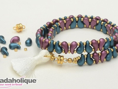 How to Make the ZoliDuo Wrapped Tassel Bracelet Kits by Beadaholique