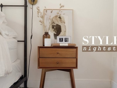 How To Style A Nightstand: Bedroom Decorating Ideas