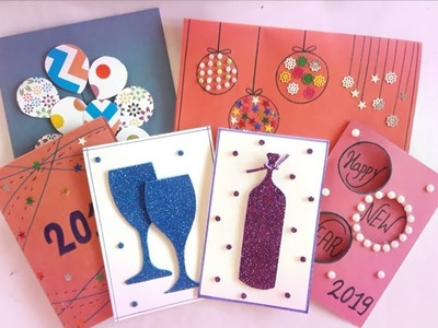 Last minute new year greeting card idea || quick and easy cards