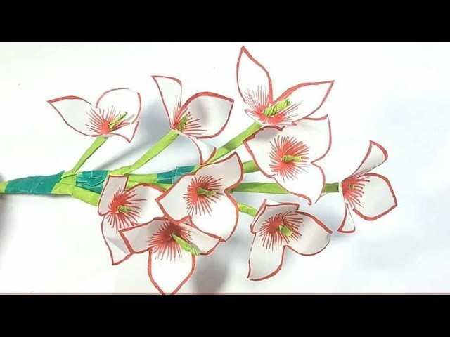 Make Flowers From Papers | DIY Paper Flowers | Arts and craft with Paper