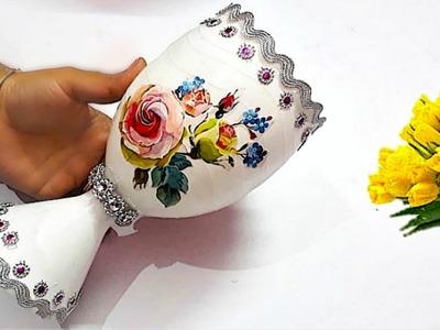 New Guldasta.flower vase from plastic bottle at home |Best out of waste Flower vase