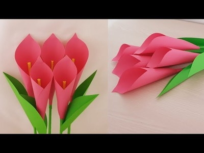 Special Paper Craft - Calla Lily Paper Flowers - DIY Home Decorations Ideas