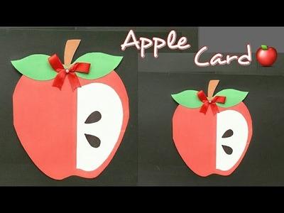 Teachers Day Card. Apple Card for Teacher.Cute Apple Card for Kids.Cute Handmade Crafts for Kids